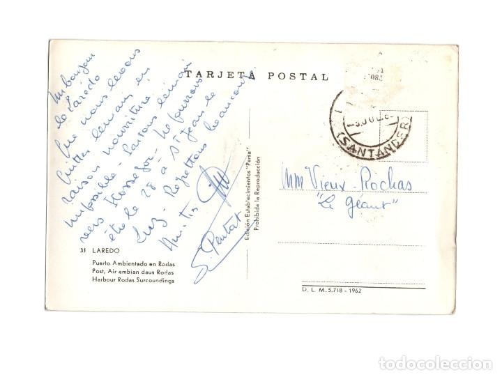 Postales: LAREDO.(CANTABRIA).- PUERTO AMBIENTADO EN RODAS. - Foto 2 - 178388740