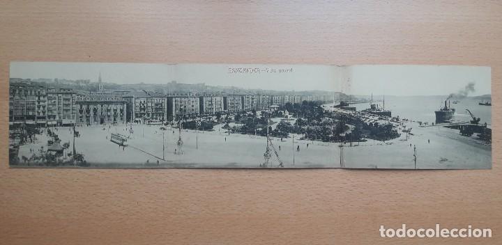 Postales: TARJETA POSTAL TRIPLE, SANTANDER VISTA GENERAL. FOTOTIPIA CASTAÑEIRA Y ÁLVAREZ. - Foto 2 - 178618671
