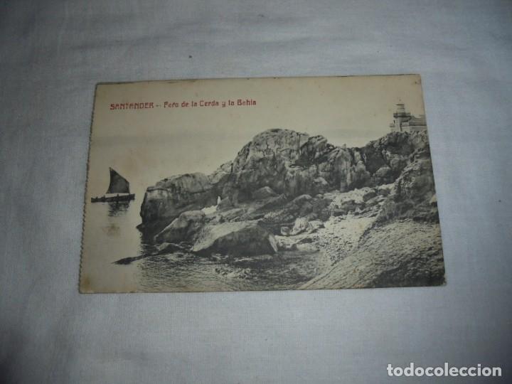 SANTANDER.-FARO DE LA CERDA Y LA BAHIA.FOTOTIPIA CASTAÑEIRA Y ALVAREZ MADRID.ESCRITA Y FECHADA 1917 (Postales - España - Cantabria Antigua (hasta 1.939))