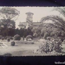 Postales: POSTAL FOTOGRÁFICA SANTANDER 1 SARDINERO JARDINES DE PIQUIO CIRCULADA 1954. Lote 179208118