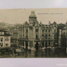 Postales: SANTANDER-CASA CONSISTORIAL-ED·V.POBLADOR-VER REVERSO-(63.056). Lote 179544995