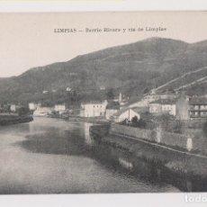 Postales: POSTAL. LIMPIAS. BARRIO RIVERO Y RÍA DE LIMPIAS. CANTABRIA. Lote 179551405