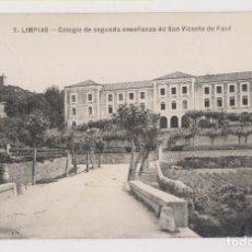 Postales: POSTAL. 7. LIMPIAS. COLEGIO DE SEGUNDA ENSEÑANZA DE SAN VICENTE DE PAUL. CANTABRIA. Lote 179551556