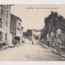 Postales: POSTAL. 6. LIMPIAS. CALLE DE LA FUENTE DEL AMOR. CANTABRIA. Lote 179551906