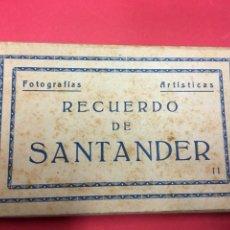 Postales: 10 FOTOGRAFIAS ARTISTICAS RECUERDO DE SANTANDER SERIE II BLOC DE POSTALES EN ACORDEON ED. M. ARRIBAS. Lote 179943261