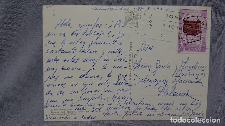 Postales: POSTAL PUENTE DEL DIABLO SANTANDER CANTABRIA - Foto 2 - 180201493