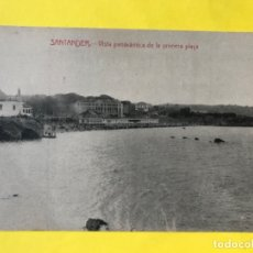 Postales: SANTANDER VISTA PANORAMICA DE LA PLAYA ANTIGUA POSTAL CASTAÑEIRA ALVAREZ Y LEVENFELD SIN CIRCULAR. Lote 180465187
