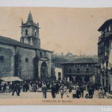 Postales: COMILLAS. EL MERCADO. CIRCULADA EN 1944. Lote 180836541