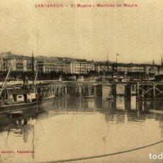 Cartes Postales: SANTANDER EL MUELLE MACHINA DE MAURA ETAT VOIR SCAN. Lote 182576998