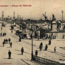 Cartes Postales: SANTANDER, PLAZA DE VELARDE. Lote 182581442