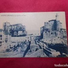 Postales: TARJETA POSTAL. CASTRO URDIALES. LA IGLESIA Y EL FARO. EDI. CASA DOLORES SALVARREY. FOTOTIPIA THOMAS. Lote 183441202
