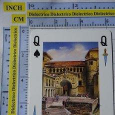 Postales: CARTA NAIPE DE BARAJA. REINA DE ESPADAS. SANTANDER SANTILLANA DEL MAR, COLEGIATA ROMÁNICA. Lote 184058670