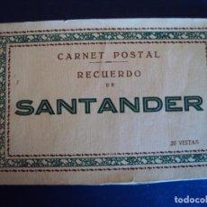 Postales: (PS-62189)BLOCK DE 20 POSTALES RECUERDO DE SANTANDER. Lote 184296891