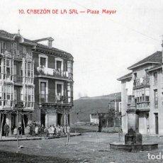 Postales: CABEZON DE LA SAL CANTABRIA 10 - PLAZA MAYOR. Lote 184825340