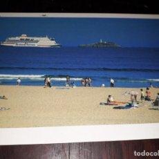 Postales: Nº 33865 POSTAL PLAYA DE SOMO ISLA DE MOURO FARO BRITANY FERRIS BARCO. Lote 184908006