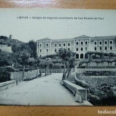 Postais: LIMPIAS (SANTANDER) POSTAL COLEGIO DE SEGUNDA ENSEÑANZA DE SAN VICENTE DE PAUL.. Lote 186072857