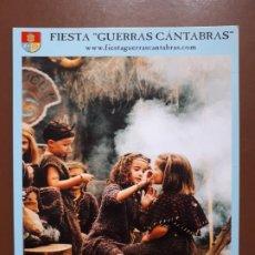 Postales: POSTAL FIESTA GUERRAS CÁNTABRAS - LOS CORRALES DE BUELNA. Lote 187183676