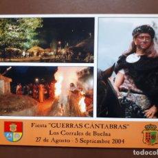 Postales: POSTAL FIESTA GUERRAS CÁNTABRAS - LOS CORRALES DE BUELNA. Lote 187183838