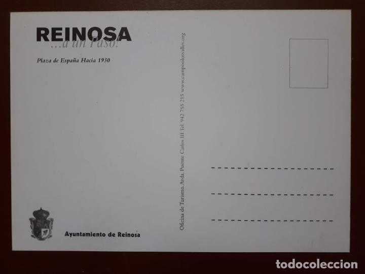 Postales: Postal Reinosa ...a un paso! - Plaza de España (1930) - Foto 2 - 187184581