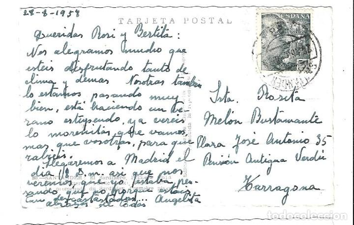 Postales: POSTAL DE SANTANDER - EL SARDINERO - CIRCULADA EL 28- 8- 1.958 - Foto 2 - 187210797