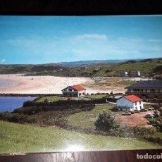 Postales: Nº 34203 POSTAL SAN VICENTE DE LA BARQUERA CANTABRIA PLAYA DE MERON Y HOTEL MIRAMAR. Lote 189536607