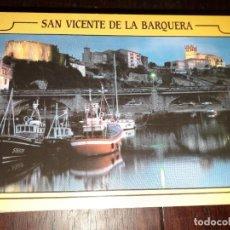 Postales: Nº 34208 POSTAL SAN VICENTE DE LA BARQUERA CANTABRIA ANOCHECER EN EL PUERTO. Lote 189536893