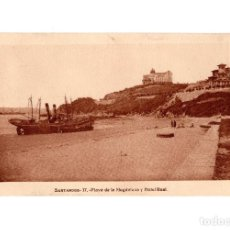 Postais: SANTANDER.(CANTABRIA).- PLAYA DE LA MAGDALENA Y HOTEL REAL.. Lote 190559581
