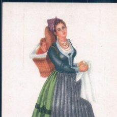 Postales: POSTAL SANTANDER - PASIEGA - MUJER DEL VALLE DEL PAS - DIBUJOS DE M ROSA BENDALA - ED BRUJULA. Lote 190702445