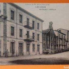 Postales: SANTANDER, CANTABRIA. LIERGANES, HOTELES Y CAPILLA.. Lote 190710526