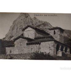 Postales: LIEBANA.(CANTABRIA).- IGLESIA DE LEBEÑA.. POSTAL FOTOGRÁFICA.. Lote 190769400