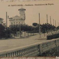 Postales: POSTAL 1966. SARDINERO, ALREDEDORES DE PIQUIO. Lote 191456203