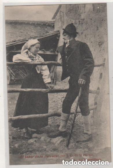 EL SABOR DE LA TIERRUCA POR J. G. DE LA PUENTE. 4 EN LA PORTILLERA. CANTABRIA. SANTANDER. (Postales - España - Cantabria Antigua (hasta 1.939))