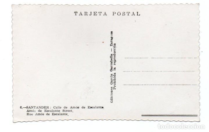 Postales: POSTAL DE SANTANDER - CALLE DE AMÓS DE ESCALANTE - Foto 2 - 191732265