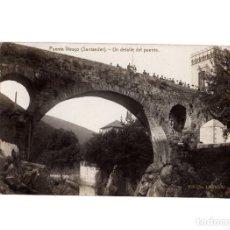 Postales: PUENTE VIESGO.(SANTANDER).- UN DETALLE DEL PUENTE, POSTAL FOTOGRÁFICA.. Lote 191782158