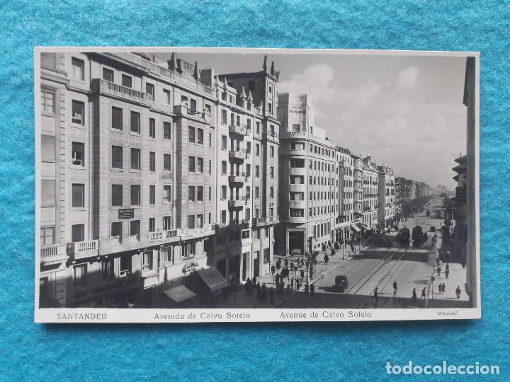 SANTANDER. AVENIDA DE CALVO SOTELO. (Postales - España - Cantabria Moderna (desde 1.940))