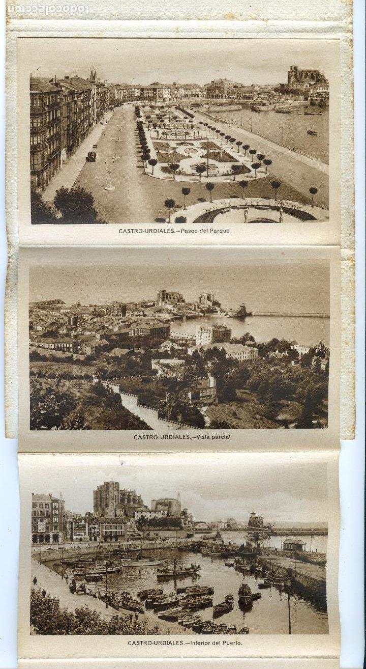 Postales: Recuerdo de Castro Urdiales. Carnet de 10 Vistas en acordeón, completo. Ediciones Arribas - Foto 2 - 192413712