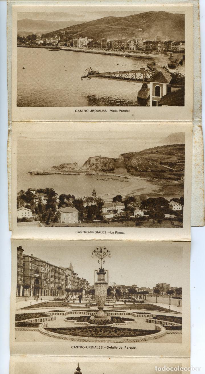 Postales: Recuerdo de Castro Urdiales. Carnet de 10 Vistas en acordeón, completo. Ediciones Arribas - Foto 3 - 192413712