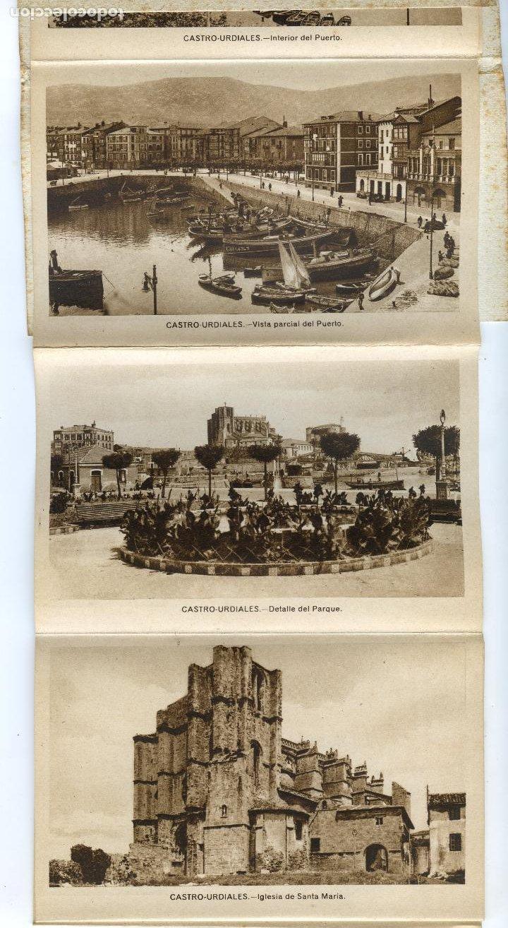 Postales: Recuerdo de Castro Urdiales. Carnet de 10 Vistas en acordeón, completo. Ediciones Arribas - Foto 4 - 192413712