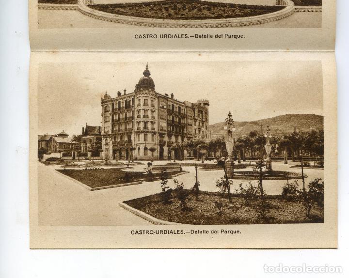 Postales: Recuerdo de Castro Urdiales. Carnet de 10 Vistas en acordeón, completo. Ediciones Arribas - Foto 5 - 192413712
