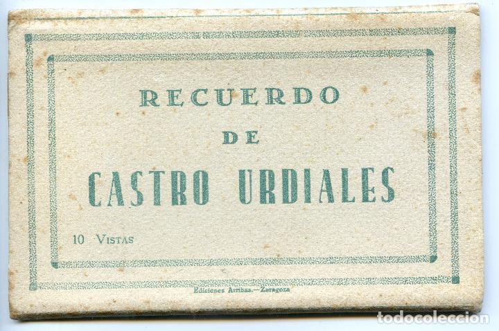 RECUERDO DE CASTRO URDIALES. CARNET DE 10 VISTAS EN ACORDEÓN, COMPLETO. EDICIONES ARRIBAS (Postales - España - Cantabria Antigua (hasta 1.939))