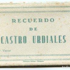 Postales: RECUERDO DE CASTRO URDIALES. CARNET DE 10 VISTAS EN ACORDEÓN, COMPLETO. EDICIONES ARRIBAS. Lote 192413712