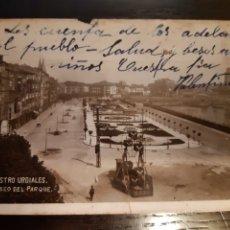 Postales: POSTAL CASTRO URDIALES PASEO DEL PARQUE AÑOS 20. Lote 192597383