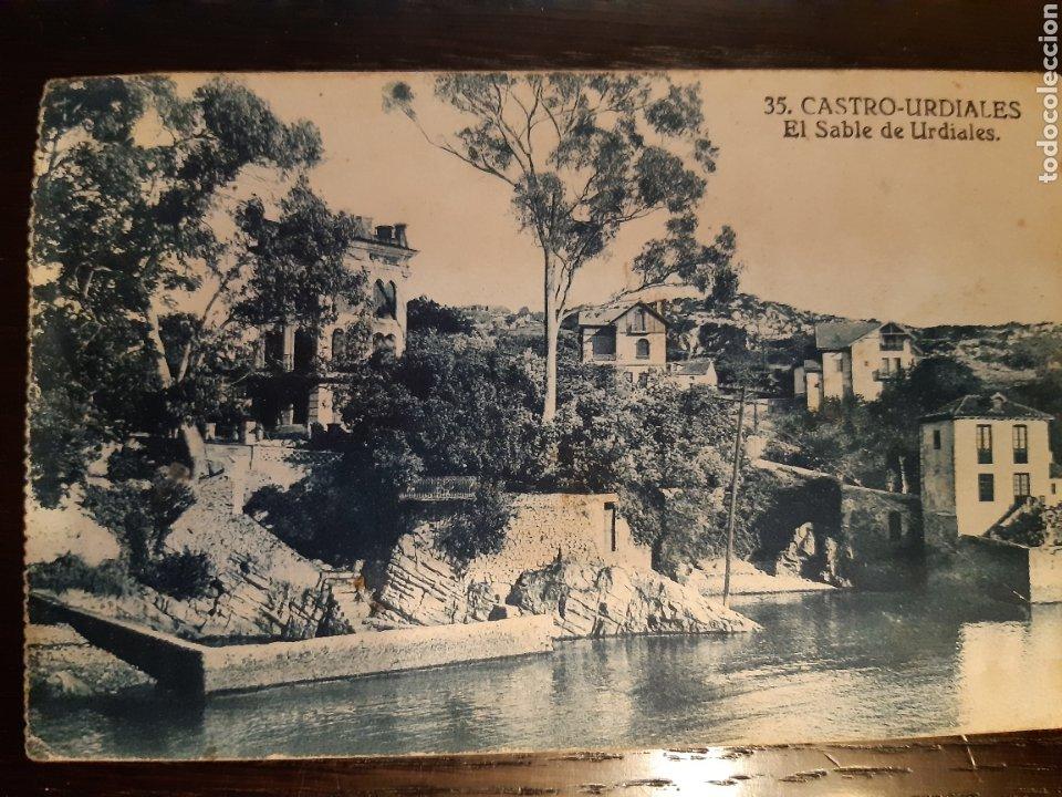 POSTAL CASTRO URDIALES EL SABLE DE URDIALES (Postales - España - Cantabria Antigua (hasta 1.939))