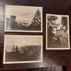Postales: LOTE DE 3 FOTOGRAFIAS CASTRO URDIALES FECHADAS EN 1935. Lote 192598273