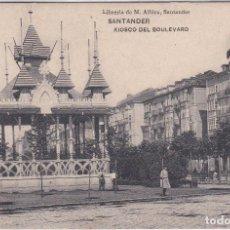 Postales: SANTANDER (CANTABRIA) - KIOSKO DEL BULEVARD - LIBRERIA DE M. ALBIRA. Lote 192716876
