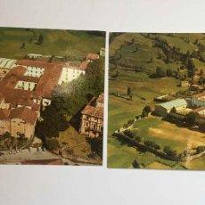 Postales: 2 TARJETAS POSTALES: VILLACARRIEDO (CANTABRIA, ESCOLAPIOS, 1977) SIN CIRCULAR. ORIGINALES.. Lote 193235486