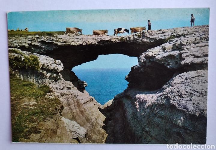 POSTAL SANTANDER PUENTE DEL DIABLO AÑO 1975 ED FARDI (Postales - España - Cantabria Moderna (desde 1.940))
