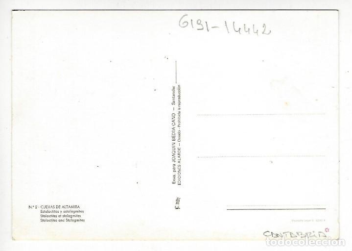 Postales: 2 - CUEVAS DE ALTAMIRA.- Estalactitas y estalagmitas - Foto 2 - 193609838