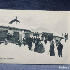 Postales: POSTAL REINOSA EN INVIERNO INSCRITA CIRCULADA 1912. Lote 193646648
