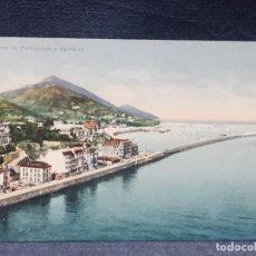 Postales: POSTAL COLOR VISTA DE PORTUGALETE Y SANTURCE L G BILBAO 1918. Lote 193647455